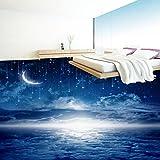 Yosot 3D Stereoskopische Tapete Anpassen 3D Bodenbelag Nachthimmel 3D Wandbilder Für Schlafzimmer Tapete Vinyl Boden Wandbild-300cmx210cm