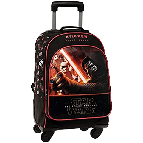 Disney Star Wars Mochila Escolar, 30.91 Litros, Color Negro