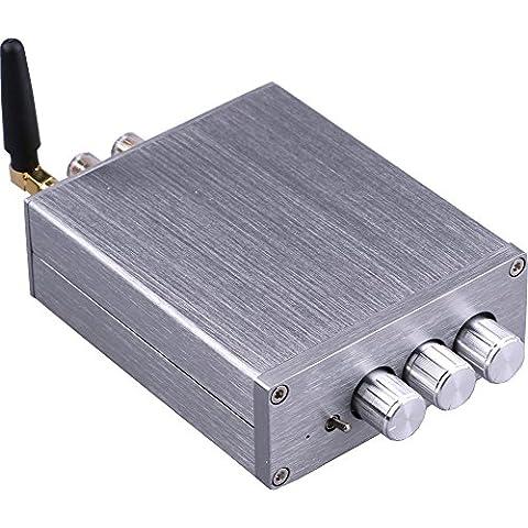 Yeeco® Hifi Amplificador Mini Bluetooth 50W + 50W DC 12 / 24V Receptor Inalámbrico Bluetooth Estéreo Doble Canal Audio Amplificador Potencia Ampli para El Sistema Android iPhone iPad Teléfono Sonido