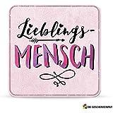 Sheepworld, My Beautytree - 44600 - Untersetzer Nr. B2, Lieblings-Mensch, Kork, 9,5cm x 9,5cm