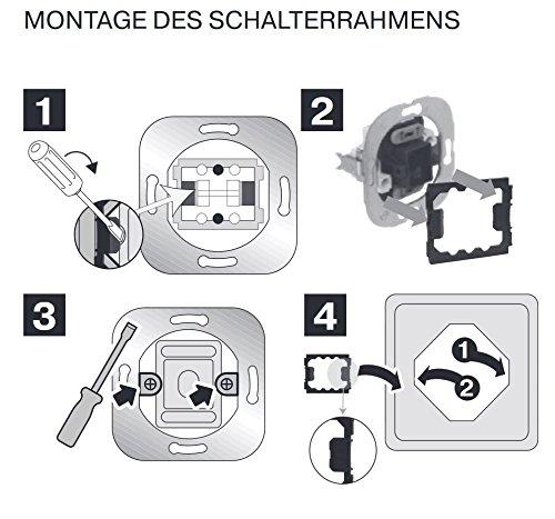 REV Ritter 0510345992 PrimaLuxe Aus-/Wechselschalter Set 4-Stück, weiß