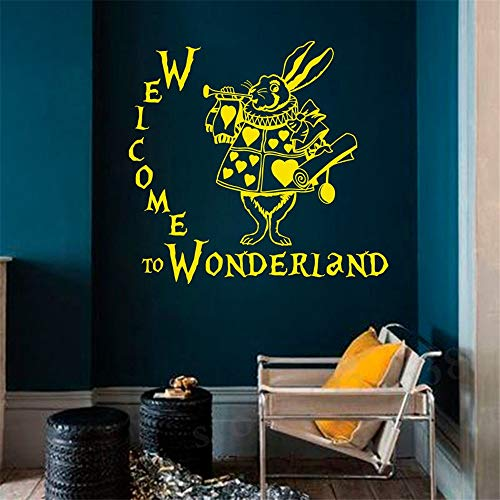 Removable Wall Decal Alice in Wonderland Quotes Decal I'm Not Crazy Vinyl  Sticker Cheshire Cat Nursery Kids Bedroom Mural