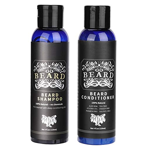 Best Face-wash Für Männer (Bartpflege-Set Box Face Wash Set 120 ml Schnurrbart-Shampoo + 120 ml Bart Conditioner Das beste Bartwasch-Set für Männer mit Bartöl)