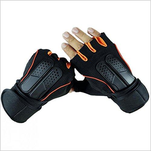 AllExtreme-Half-Finger-Bike-Gloves-MLXL-Breathable-with-Microfiber-Leather-Anti-slip-Shock-absorbing-3MM-Sponge-Pads-Velcro-Design-for-MenWomen-Road-Racing