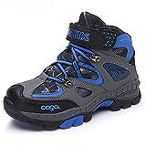 Walisen Zapatillas de Trekking y Senderismo Niños Zapatos de Algodón Botas de Escalada Botas de Invierno La Nieve