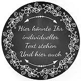 24 PERSONALISIERTE runde Etiketten mit Motiv: Tafel Look schwarz weiss edel - Ihre Aufkleber online selbst gestaltet, ganz individuell