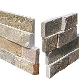 Brickstones, Wandverbländer, Mauerverbländer Naturstein Ecke passend zu 15x60 cm beige bunt, 1 Karton = 6 Ecken