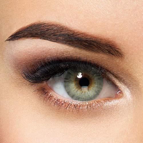 Natürliche Hidrocor farbige Kontaktlinsen Quartz - blau graue Jahreslinsen ohne Stärke (2 Stück)