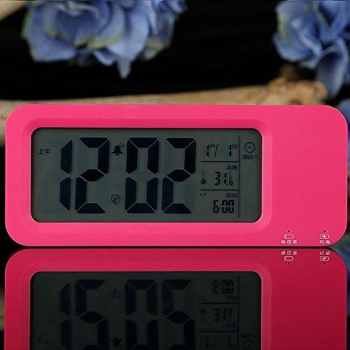 KHSKX Student-Kurzübersicht Stummschalten der Wecker Digitaluhr, Clock Mode, faul Nacht elektronische Aufladung Kinder-Wecker , rose (Red Kostüm Zone)