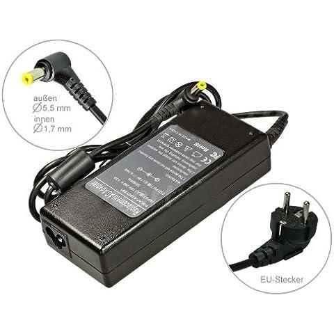90W Alimentador Cargador Notebook AC Power compatible con Acer Aspire 7540g 7551G 7552G 7560 7720 7720g 7720z 7720ZG 7730 7730g, con eurocable