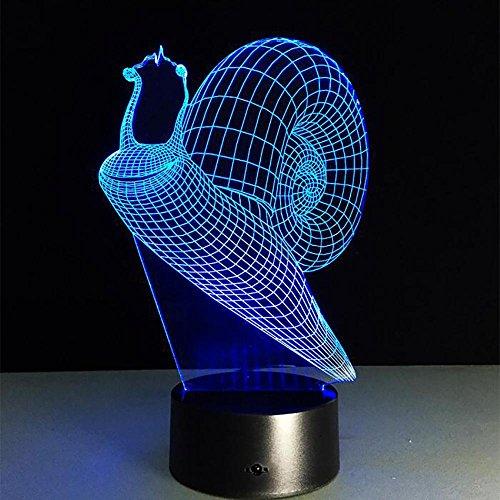 LPY-Climb's Snail 3D Acryl Visuelle Home Touch Tischlampe Bunte Kunst Dekor USB LED Kinder Schreibtisch Nachtlicht