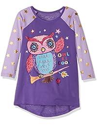 Komar Kids Niñas Owl Jersey Nightgown Bata para dormir