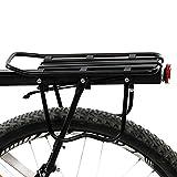 Yorgewd en Alliage d'aluminium pour Vélo Arrière Rack, Vélo de Montagne Vélo Porte-Bagage avec Côté protéger Cadres et Réflecteur