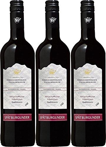 Königschaffhausen-Kiechlinsbergen Königschaffhauser Vulkanfelsen Spätburgunder Dt. QWsüß 2017 (3 x 0.75 l) E-qw