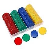 xiangpian183 Fichas de póquer de plástico de 38 mm Sin denominación Digital Conta fichas de Juego de fichas de póquer Conjunto de 160