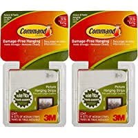 Command 3M 12ct Pack Picture & Frame Hanging Strips Sets Medium Size White Damage-Free