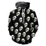YZFZYLW 3D-Druck Eine Gruppe Von Totenköpfen Muster Freizeit Hoodie Unisex Mode Winter Paar Langarm-Sweatshirt,Picture,XXXXL