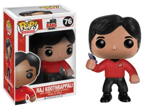 Funko - Pdf00003790 - Figurine Cinéma - The Big Bang Theory - Pop - Raj Star Trek, Figurines