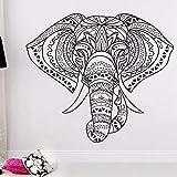 Decoración Del Hogar Indio Elefante Mandala Hippie Arte De La Pared Pegatinas De Vinilo...