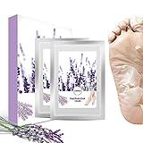 Foot Peel Mask, 2 Pairs LARALA Exfoliant Foot Peeling Mask Socks Soft Feet