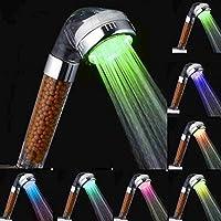 LEXPON Soffione Doccia Anione Filtro Filtrazione Tubo Flessibile ABS Led Spa Multicolore