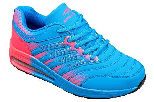 gibra Sportschuhe, Sehr Leicht und Bequem, Blau/Pink, Gr. 36-41 Blau/Pink