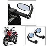 #7: Vheelocity Motorycle Bar End Mirror Rear View Mirror OvalFor Bajaj Pulsar Rs 200 Pulsar As 200-150
