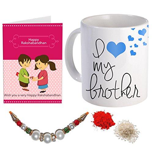 Sky Trends Printed Coffee Mug Rakshabandhan, Rakhi, Birthday Gift for Brother and Anniversary Gift St-08