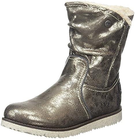 s.Oliver Mädchen 56609 Kurzschaft Stiefel, Silber (Pewter 915), 37 EU