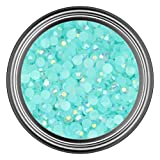 4MM - 500 Pieces : AB Light Blue Resin Rhinestones in 2mm 3mm 4mm 5mm 6mm for Flat Back Nail Art Cabochon Diy Decoration and Craft (4MM - 500 Pieces)