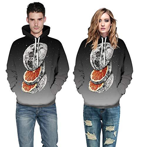 Herren Damen Hoodie,TWBB Herbst Winter Mehrere Wahl 3D Printing Outwear Kapuzenpullover Pullover Mit Pocket Lange Ärmel Mantel Sweatjacke Hemd