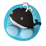 Lalang 1 Stück Silikon Cartoon Tiere Saugnapf Zahnbürstenhalter Sauger Haken für Kinder (Wal)