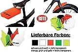 FATBIKE Steckschutzblech Set Orange FAT BIKE Mud Guard Kunststoff Vorne + Hinten Spritzschutz
