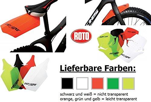 FATBIKE Steckschutzblech Set Schwarz FAT BIKE Mud Guard Kunststoff Vorne + Hinten Spritzschutz