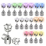 Supology 10 Paar LED Ohrringe Glowing Kristall Diamant Leuchten Ohrstecker Blink Ohrringe für Party Zubehör Club Festivals