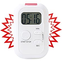 Infactory Electronic Timer with Sound, Light and Vibration Alarm