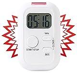 infactory Timer mit Lichtsignal: Elektronischer Timer mit Ton-, Licht- und Vibrationsalarm (Stoppuhr ohne Ton)