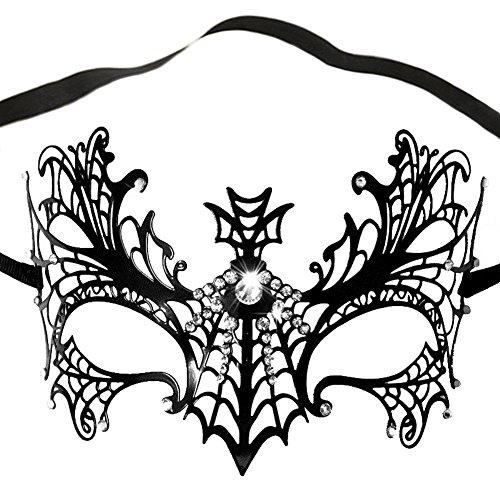 Damen Venezianische Maskenball Maske Metall Maskerade Halloween Karneval (Masken Halloween Uk)