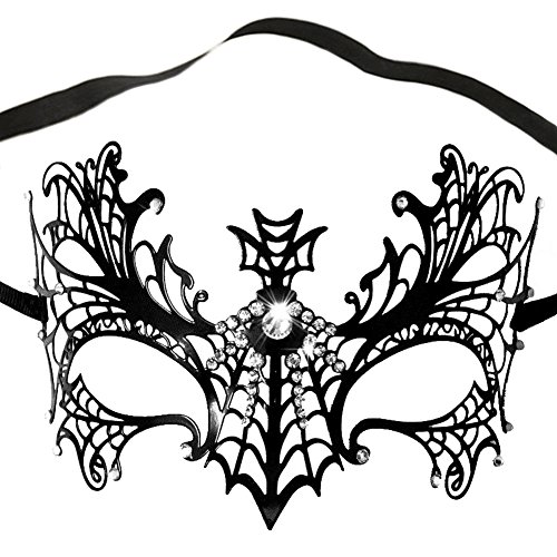 Damen Venezianische Maskenball Maske Metall Maskerade Halloween Karneval ()