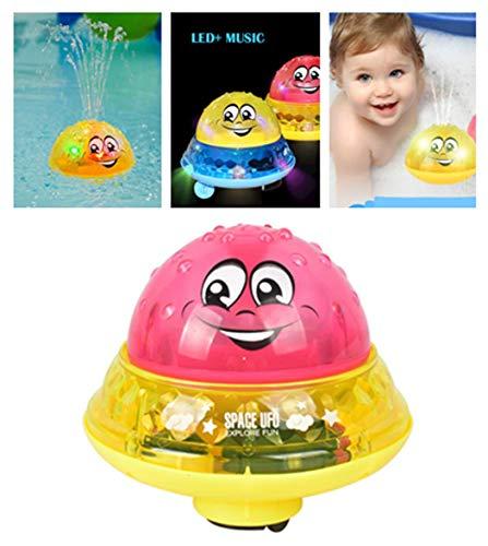 Badespielzeug Wasserspiel für Kinder Mit 2 Musik + Blinklicht - Baby Bade Bad Schwimmen Badewanne Pool Spielzeug - Elektrische Induktionssprinkler Kugel Drifting Badewanne Dusche Spielzeug (D)