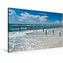 Premium Textil-Leinwand 90 cm x 60 cm quer FLORIDA Golf von Mexiko | Wandbild, Bild auf Keilrahmen, Fertigbild auf echter Leinwand, Leinwanddruck: Idyllischer Meeresblick (CALVENDO Natur)