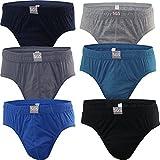 SGS Herren Slips 6-12er Pack Unterhosen Bunt Farbig 100% Baumwolle Unterwäsche Gr. S M L XL XXL XXXL Sportslips Männer Jungen (L, 12.Stück 580)
