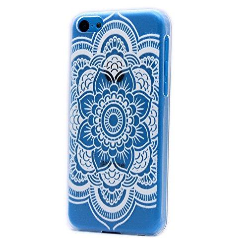 iPhone 6 Plus / 6S Plus Custodia Cover , Keyihan Henna Mandala Fiore Protettiva Caso in Dura Plastica per Apple iPhone 6 Plus e iPhone 6S Plus (Acchiappasogni Dream Catcher) Mandala completa