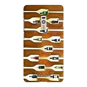 HomeSoGood Designer Drink Shelf Brown 3D Mobile Case For OnePlus 2 (Back Cover)