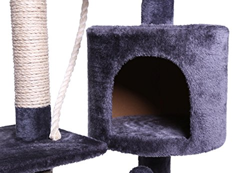 dibea kb00203 kratzbaum f r katzen 112 cm h he grau prima. Black Bedroom Furniture Sets. Home Design Ideas