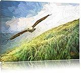 Majestic Bald Eagle effetto pennello, formato: 120x80 su tela, XXL enormi immagini completamente Pagina con la barella, stampa d'arte sul murale con telaio, più economico di pittura o un dipinto a olio, non un manifesto o un banner,