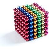DIY magnético de acero inoxidable de Linlinzz® niños bola de acero magnético, Esculturas los granos curativos Juguetes juguetes creativos juguetes de ocio - 5MM (colorido)