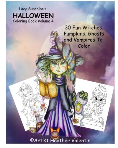 oween Coloring Book Volume 4: Whimsical Witches, Ghosts, Pumpkins and Vampires (Lacy Sunshine's Coloring Book) ()