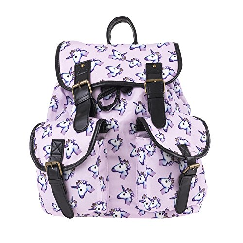 Einhorn Rucksack, FrohLila Unicorn Rucksack Schultasche Daypacks Schulrucksäcke Schulranzen aus Oxford Tuch Reise Outdoor Sports Gepäck Tasche für Damen & Mädchen