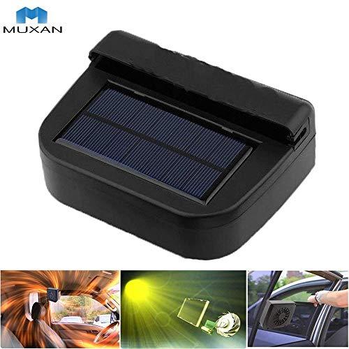 MUXAN Enfriador Solar del Coche Ventilador portátil Enfriador para automóvil Ventilador para Autos...